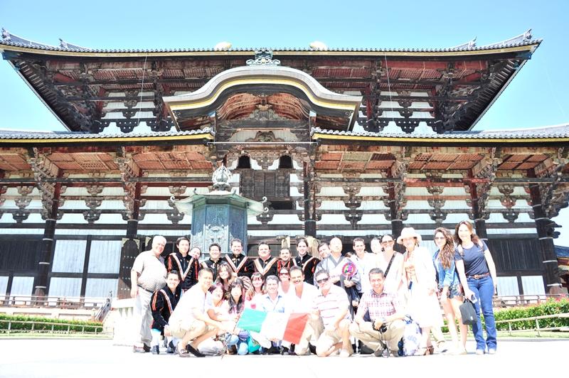 En el Templo del Gran Buda en Nara
